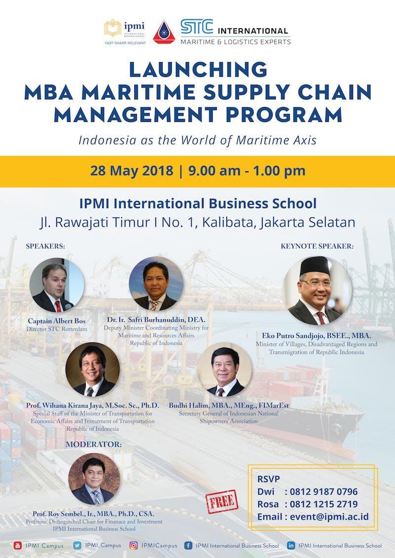 Launching IPMI MBA Maritime Supply Chain Management Program