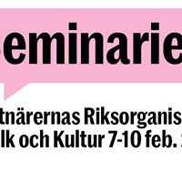 Fyra seminarier &amp ett samtalsbs p Folk &amp Kultur 7-10 febr 2018