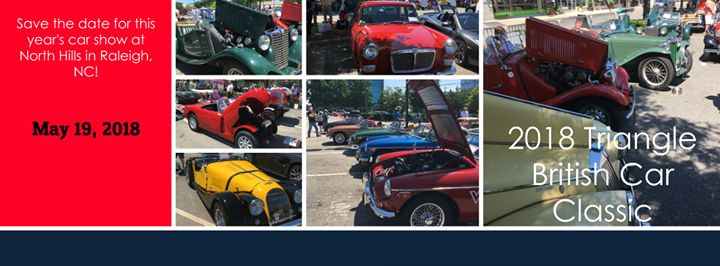 Triangle British Classic Car Show At The Circle At North Hills St - Raleigh car show