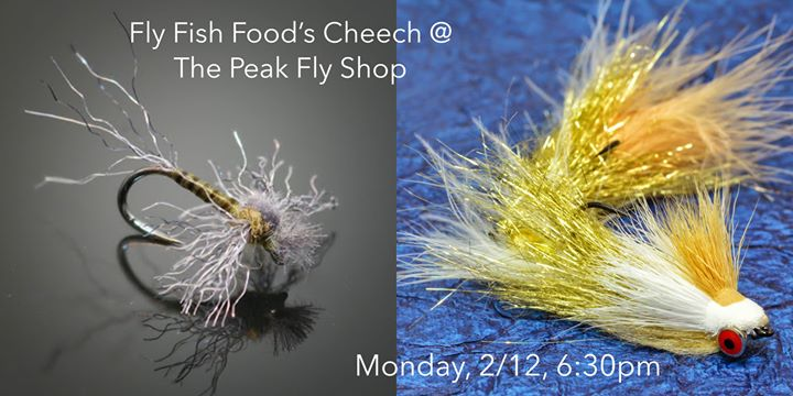 Clark pierce aka cheech tying some fly fish food at for Fly fish food