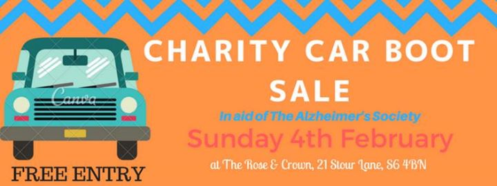 Charity Car Boot Sale In Aid Of The Alzheimers Society At The Rose