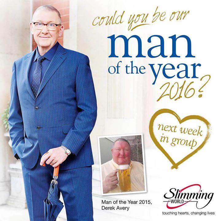 Man Of The Year 2016 Open Day At Slimming World At Geddes