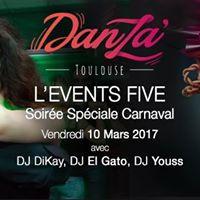 Danza LEvents Five - Soire 2 Salles  Salsa-Bachata &amp Kizomba
