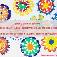 Coffee Filter Snowflakes Workshop