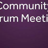 Community Forum Meeting