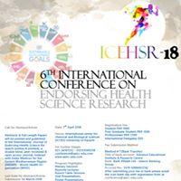 6th Icehsr- Towards SDGs exploring the healthy possibilities