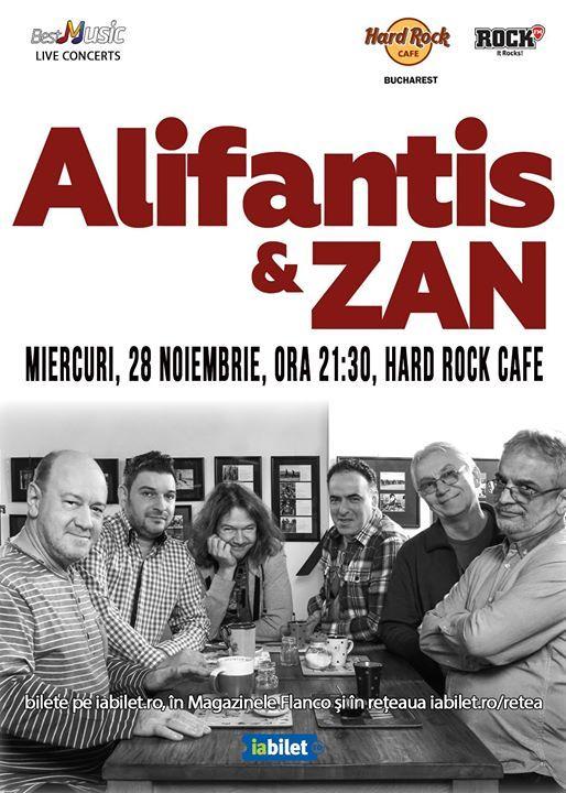 Nicu Alifantis & ZAN - 28 noiembrie - Hard Rock Cafe