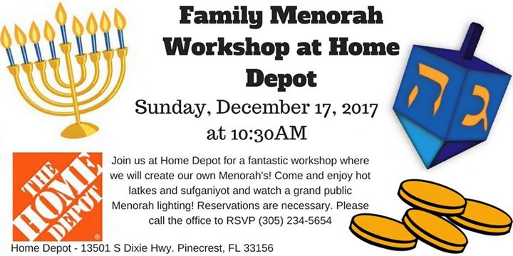 Family Menorah Workshop At Home Depot