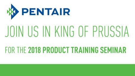 Pentair Product Training Seminar at Valley Forge Casino Resort, King