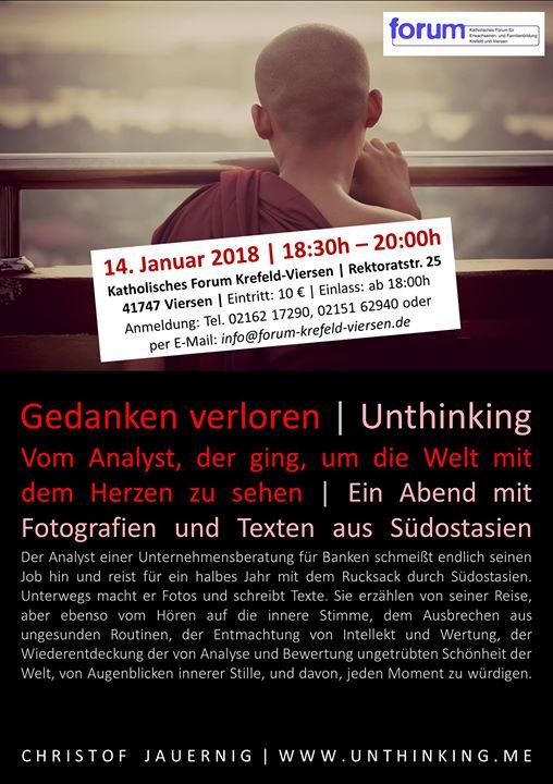 Gedanken Verloren / Unthinking at Kath. Forum in Viersen, Viersen