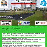 Opening Calisthenics Park Rotterdam Nesselande &quotBeach Barzz&quot