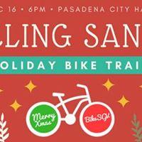 Cycling Santas Bike Train