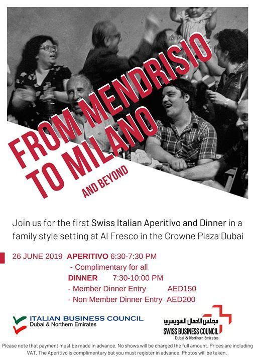 Swiss Italian Aperitif & Dinner_From Mendrisio to Milano at
