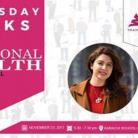 Thursday Talk Emotional Health