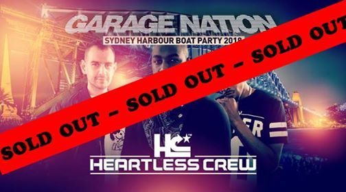 Garage Nation Sydney Boat Party ft Heartless Crew - SOLD OUT