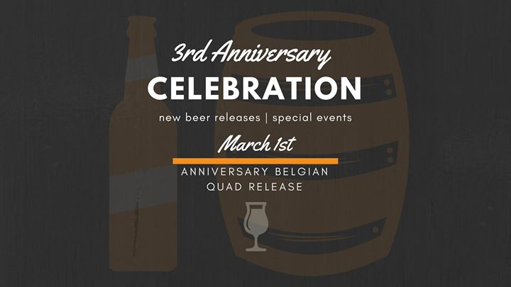 3rd anniversary celebration: belgian quad beer release at wabasha