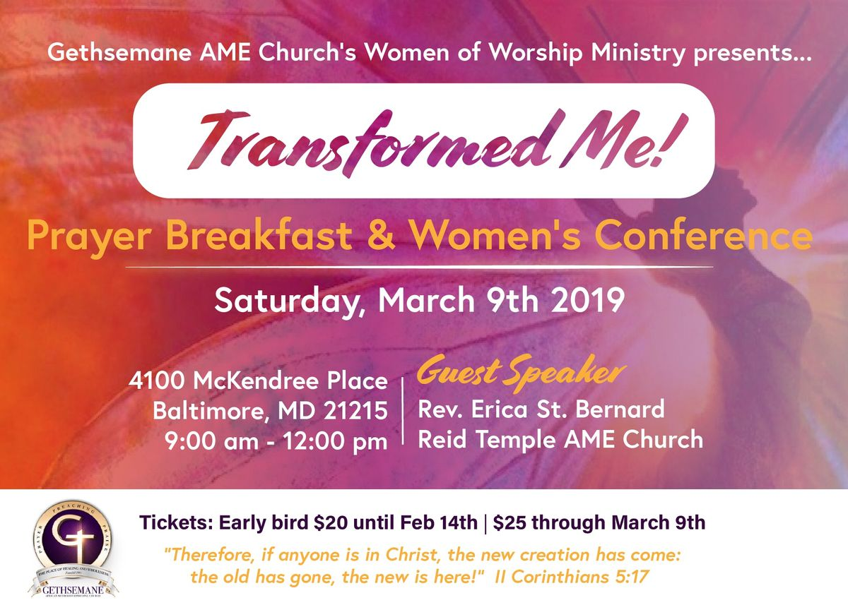 Transformed Me Prayer Breakfast & Womens Conference
