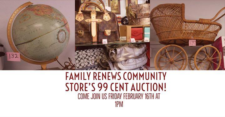 Family Renews Community Stores 99 Cent Auction
