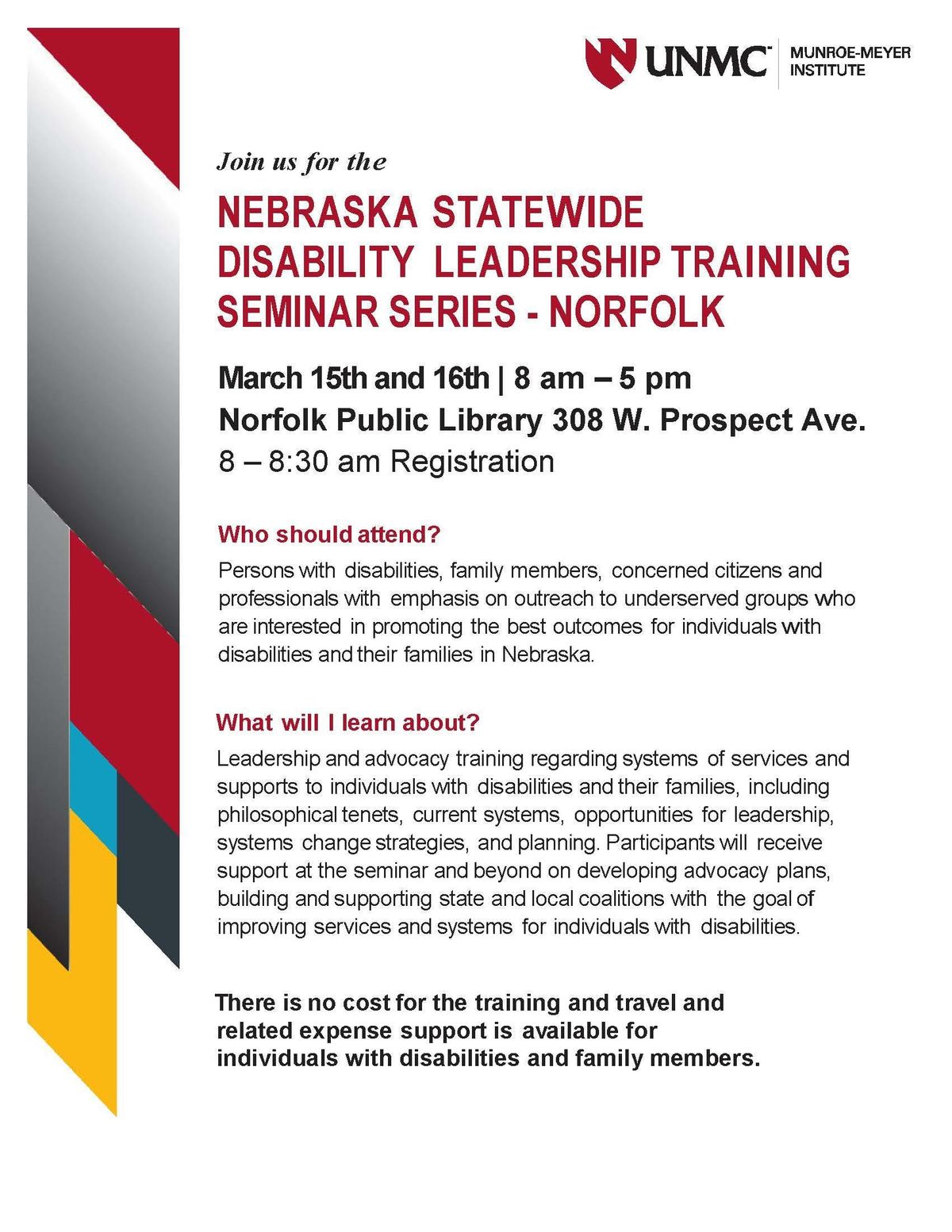 Disability Advocates Concerned By Plan >> Nebraska Statewide Disability Leadership Training Seminar Series At