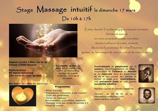 Stage massage intuitif