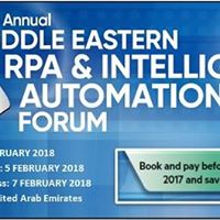 2nd Middle Eastern RPA and Intelligent Automation Forum