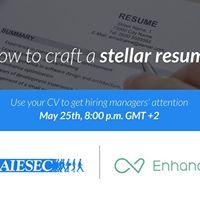 Webinar How to craft a stellar resume