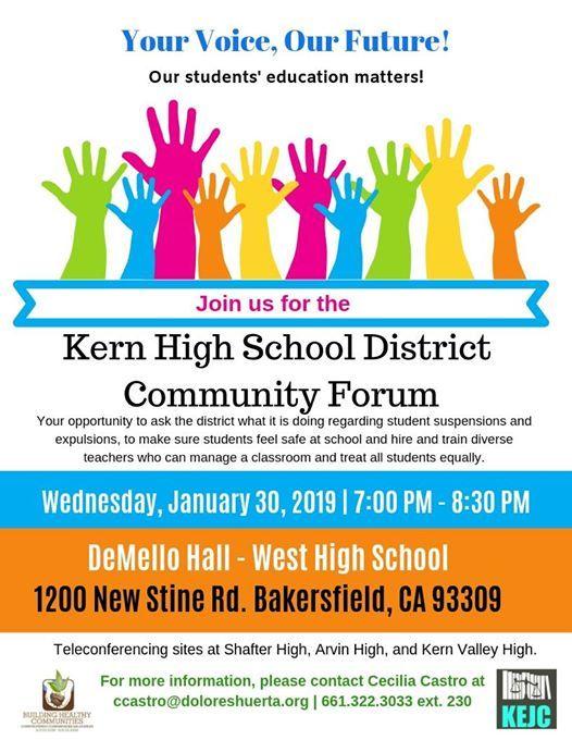 Khsd Community Forum At West High School Bakersfield California