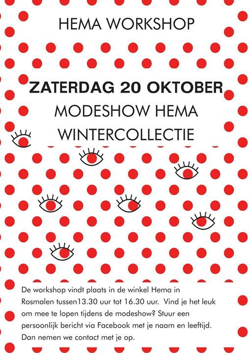 Modeshow wintercollectie Hema