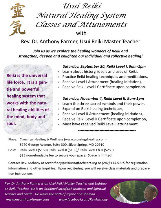 Usui Reiki Training And Attunements At Crossings Healing Wellness