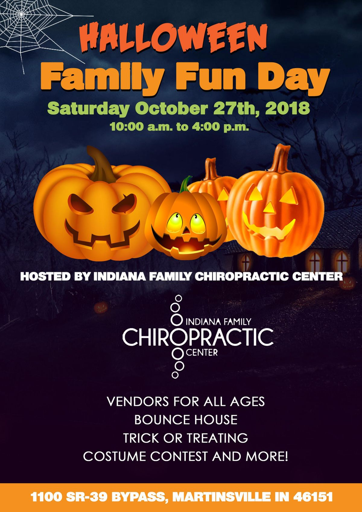 halloween family fun day at indiana family chiropractic center