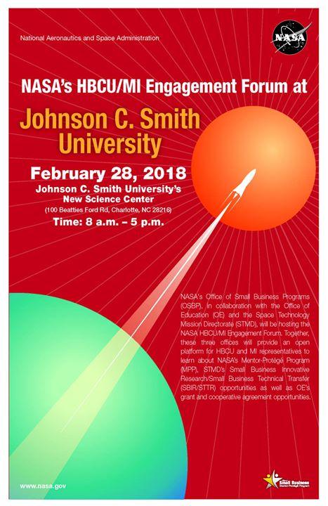 NASAs HBCU MI Engagement Forum at Johnson C. Smith University