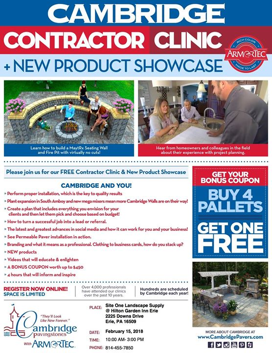 cambridge new product showcase in erie pa site one landscape supply hilton garden inn erie - Hilton Garden Inn Erie Pa