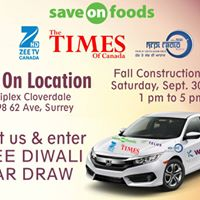 Diwali Free Car Draw - Fall Construction Expo
