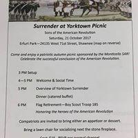 Surrender at Yorktown Picnic