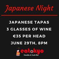 Fun Japanese Night - Wine &amp Food matching