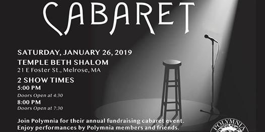 Cabaret at Temple Beth Shalom21 East Foster Street, Melrose