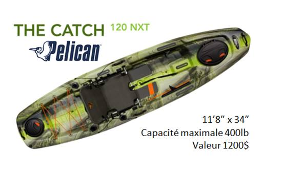 Tirage kayak The Catch 120 NXT - Campagne de financement at