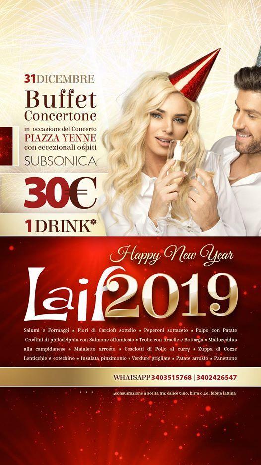 Capodanno al Laif - Buffet in Piazza Yenne