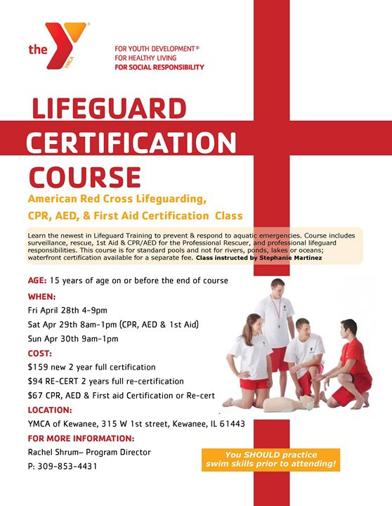 Lifeguard Cpr Aed 1st Aid Certification Course At Ymca Of