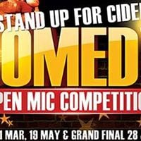 Stand Up For Cider Open Mic Comedy Competition 2017 FINAL