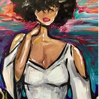 Slayed Paint Class at Wine &amp Design