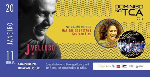 Domingo no TCA J. Velloso Mariene de Castro e Cortejo Afro