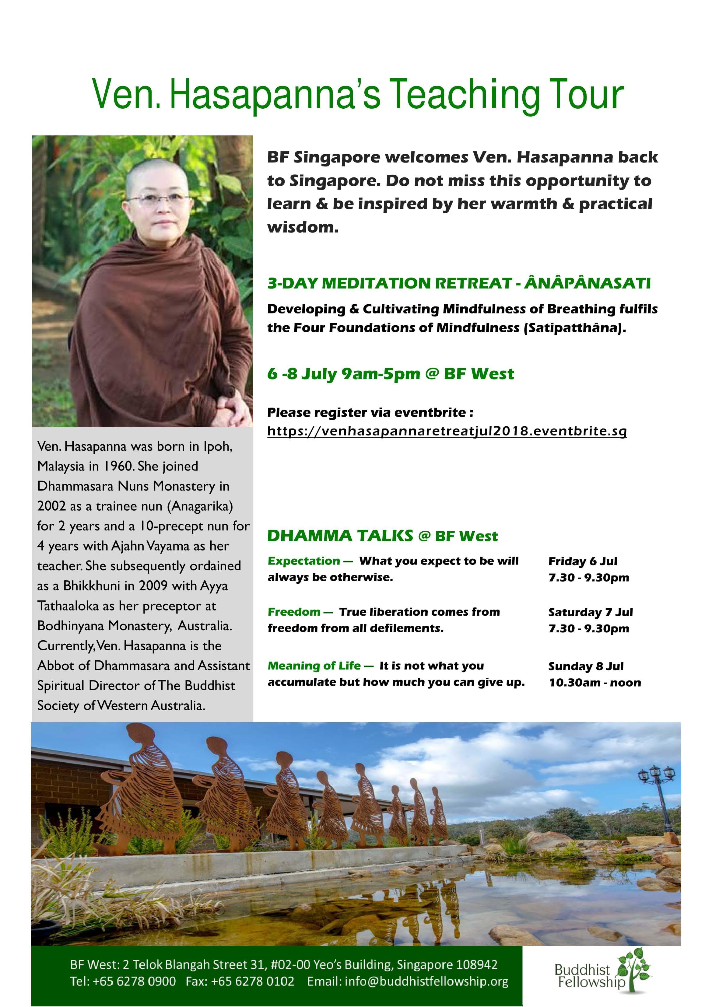 3-Day Meditation Retreat with Ven Hasapanna