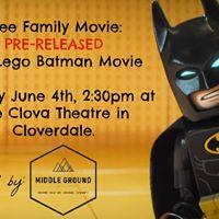 Pre- Release Lego Batman Movie