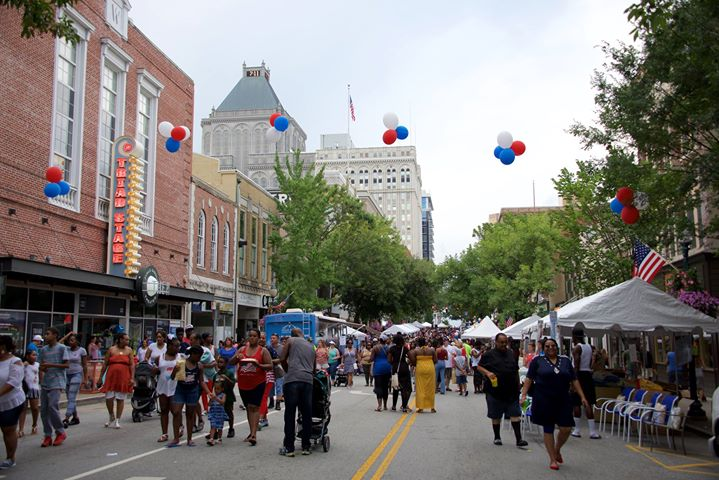 Fun Fourth Street Festival At Downtown Greensboro Greensboro