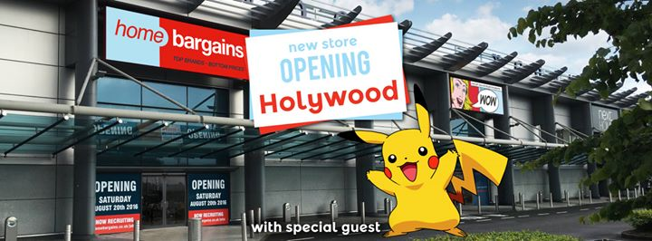 Home Bargains Holywood Opens Catch A Pikachu At Holywood Exchange