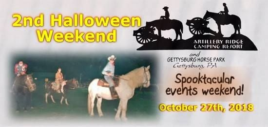 2nd halloween 2018 events weekend at artillery ridge campground