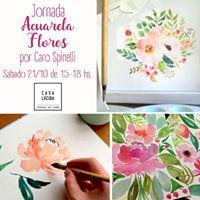 Jornada Acuarela Flores Sabado 2110 en Casa Lucida