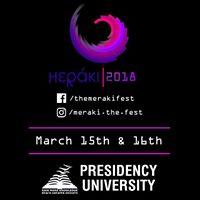 Meraki 2018 - A Cultural Festival at Presidency University