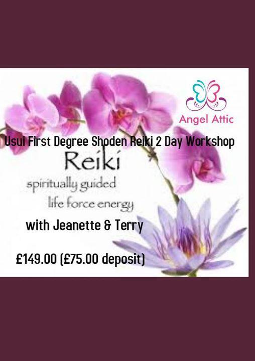 Usui First Degree Shoden Reiki 2 Day Workshop at Angel Attic